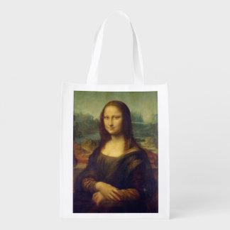 A Mona Lisa de Leonardo da Vinci Sacolas Ecológicas Para Supermercado