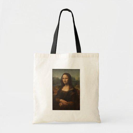 A Mona Lisa por Leonardo da Vinci Bolsas De Lona