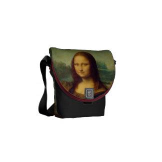 A Mona Lisa por Leonardo da Vinci Bolsa Mensageiro