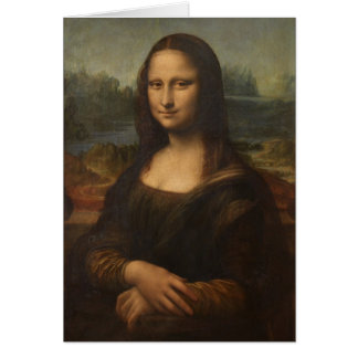 A Mona Lisa por Leonardo da Vinci Cartão