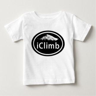 """A montanha oval de escalada do """"iClimb"""" etiqueta o Camiseta Para Bebê"""