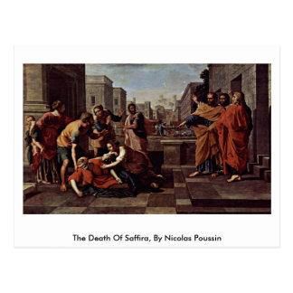 A morte de Saffira, por Nicolas Poussin Cartão Postal