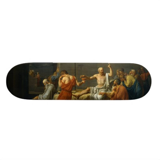 A morte de Socrates por Jacques-Louis David 1787 Skate