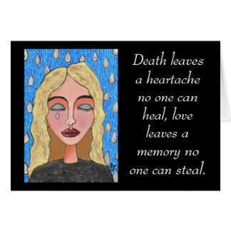 A morte deixa uma mágoa… - cartão de simpatia