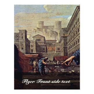 A morte do detalhe de Saffira por Poussin Nicolas Panfleto Personalizados