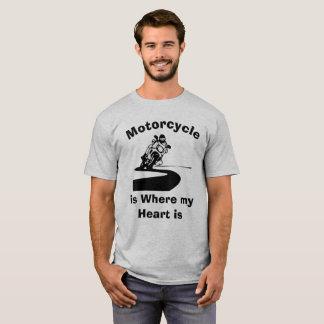 A motocicleta é onde meu t-shirt cómico do coração camiseta