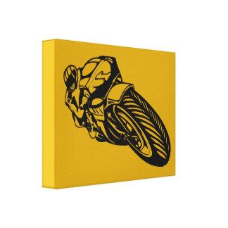 A motocicleta ostenta canvas impressão de canvas esticada