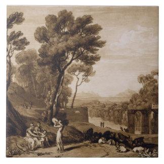 A mulher e o pandeiro, gravados pela volta de Char Azulejo Quadrado Grande