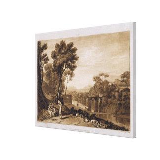 A mulher e o pandeiro, gravados pela volta de Char Impressão De Canvas Esticadas
