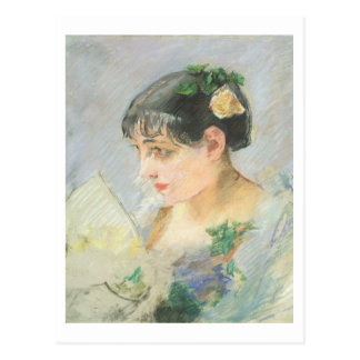 A mulher espanhola (pastel no papel) cartao postal