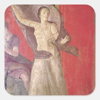 A mulher Startled, parede norte Adesivo Quadrado