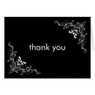 A multa roda cartões de agradecimentos