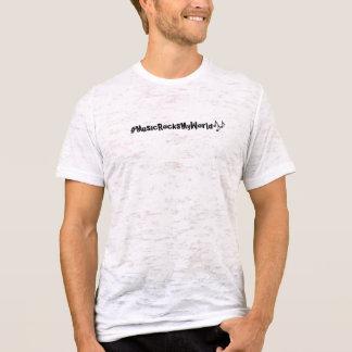 A música balança meu tshirt do hashtag do mundo camiseta