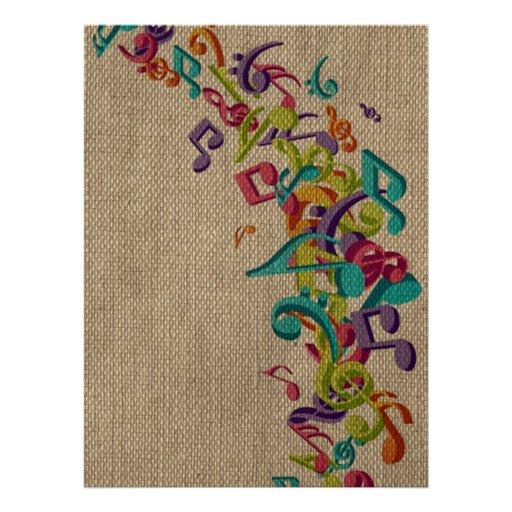 A música bonita da textura de serapilheira nota o  convite