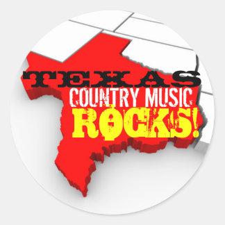 A música country de Texas balança etiquetas Adesivo