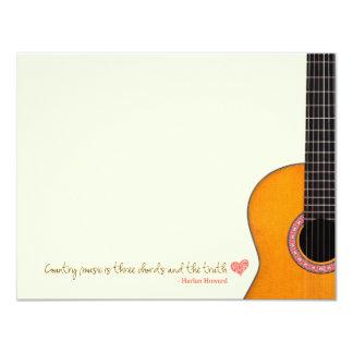 """A """"música country é cartões de nota de três convites personalizado"""