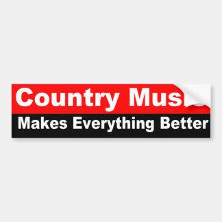 A música country faz tudo melhor adesivo para carro