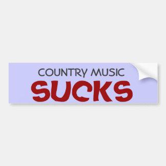 A música country suga o autocolante no vidro tra adesivos