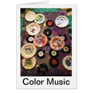 A música da cor por Diane Ponder Cartão Comemorativo