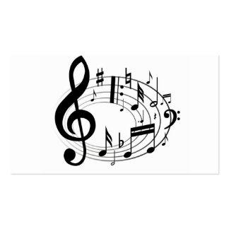 A música da escala da música nota o preto & o cartão de visita