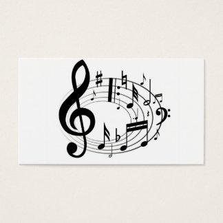 A música da escala da música nota o preto & o cartão de visitas