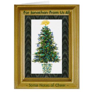 A música desproporcionado da árvore de Natal do Cartão Comemorativo Grande