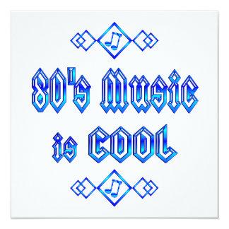a música do anos 80 é legal convite quadrado 13.35 x 13.35cm