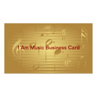 A música do ouro nota cartões de visitas
