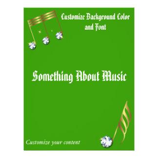 A música do ouro nota o insecto - música metálica panfletos personalizado