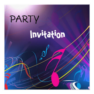 A música do partido do convite nota o azul