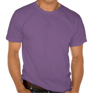 A música dos homens t-shirt orgânico roxo das