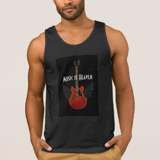 A música é a camisola de alças dos homens do céu camisetas