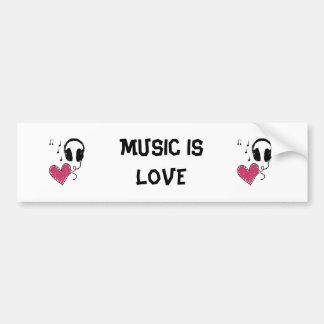 A música é amor adesivos
