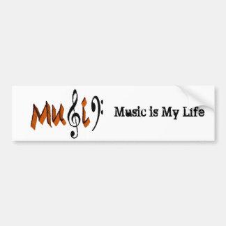 A música é amor adesivo