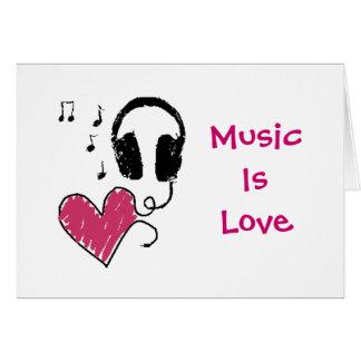 A música é amor, amor é música cartão comemorativo