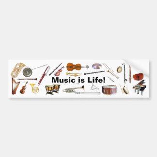"""A """"música é autocolante no vidro traseiro do instr adesivo"""