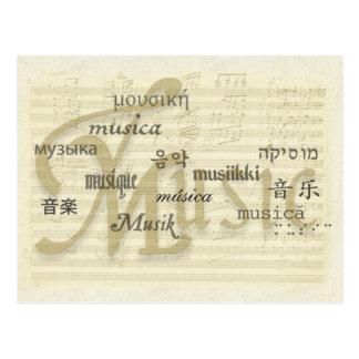 A música é língua universal cartão postal