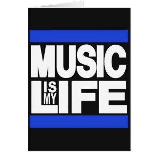 A música é meu azul da vida cartões