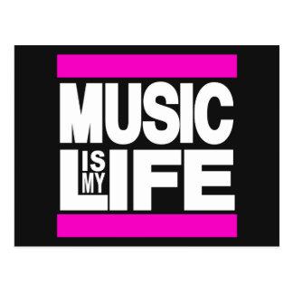A música é meu rosa da vida cartão postal