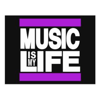 A música é meu roxo da vida cartão postal