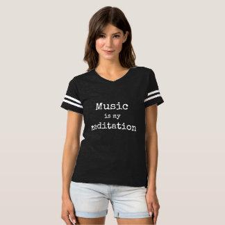 A música é meu Tshirt da meditação Camiseta