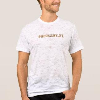 A música é meu tshirt do hashtag da vida camiseta