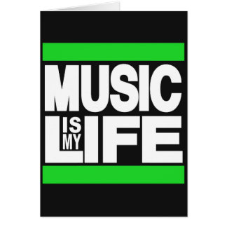A música é meu verde da vida cartão comemorativo