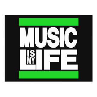 A música é meu verde da vida cartão postal