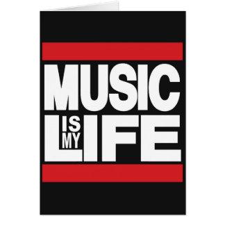 A música é meu vermelho da vida cartão comemorativo