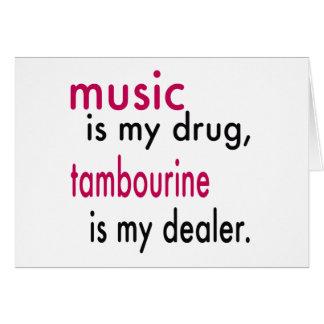 A música é minha droga pandeiro é meu negociante cartao