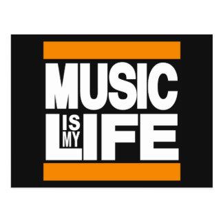 A música é minha laranja da vida cartões postais