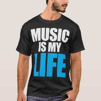 A música é minha vida camiseta