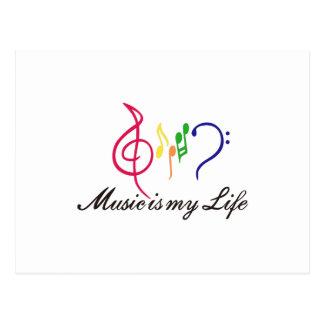 A música é minha vida cartão postal