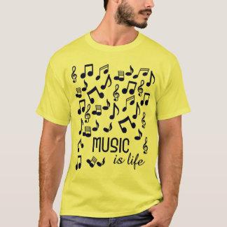 A música é o t-shirt 4 da vida camiseta